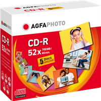 CD-R 700 MB (5er JewelCase) Agfa Photo 400005