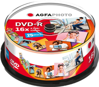 DVD-R 4,7 GB (25er Cakebox) Agfa Photo 410001