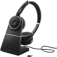 Jabra Cuffie auricolari stereo wireless on-Ear Evolve 75+ UC