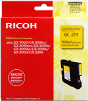 Ricoh cartuccia gelo 405543 / GC-21Y giallo