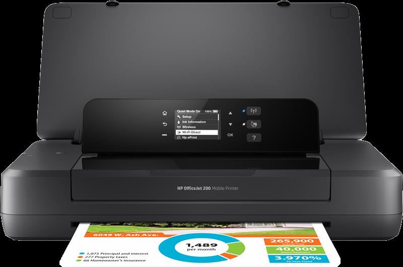 Stampante a getto d'inchiostro HP Officejet 200 Mobile